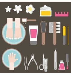 manicure and pedicure vector image