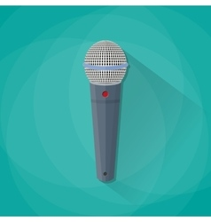 Grey metallic microphone vector image
