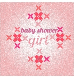 Baby shower for girl pink pastel tones vector