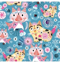 Bright pattern of the cats vector