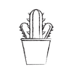 cactus in a pot icon image vector image vector image