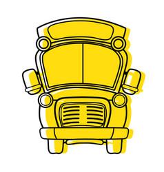 color school bus transportation to education vector image