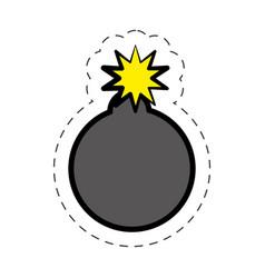 Comic bomb explotion symbol vector