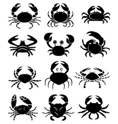 Crabs icons set vector image vector image