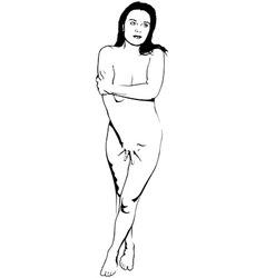 Girl sketch vector