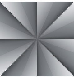 Gray and white shiny folded paper triangles vector image vector image