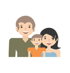 Happy family love members vector
