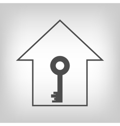 House with key vector image vector image