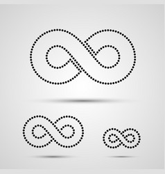 infinity icon set black template design element vector image vector image