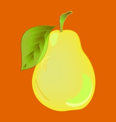 Pear Yellow pear with volume highlights on an vector image vector image