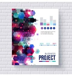 Presentation of a business project vector image vector image