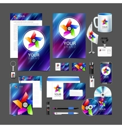 Professional corporate identity kit business vector image