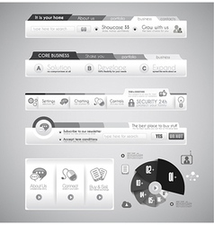 Quality web elements with infographic vector image vector image