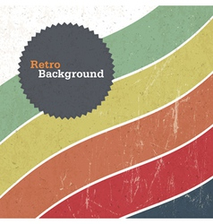 retro background with colorful lines vector image