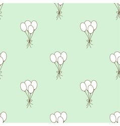 Seamless pattern balloon vector image