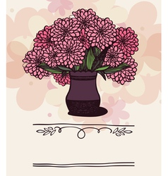 Vase with chrysanthemum vector image vector image
