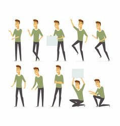 Young handsome man - cartoon people vector