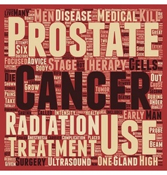 Prostate cancer treatment text background vector