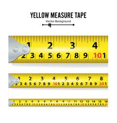 Yellow measure tape measure tool equipment vector