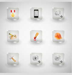 website internet icons vector image