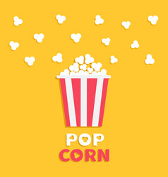 Popcorn popping red yellow strip box package vector