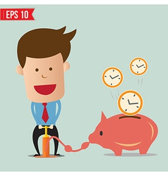 Business man pump time - - eps10 vector