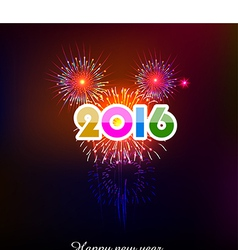 Happy new year 2016 with fireworks background vector
