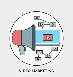 Flat design concept for Video Marketing for vector image