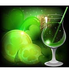 Magical leprechaun drink vector