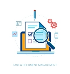 Task management and check list flat icons vector