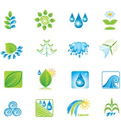 Environment set of icons vector