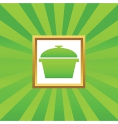 Pot picture icon vector