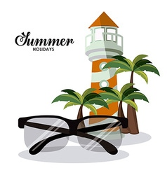 Summer glasses design vector
