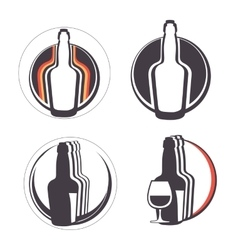 Stylish collection of alcohol emblems vector image