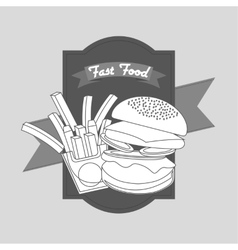 Delicious fast food vector