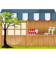 Grocery shop in the park vector