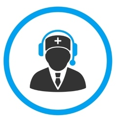Medic call center icon vector