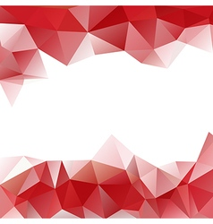 Background of triangles polygon valentines day vector
