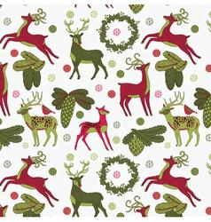 vintage christmas art print vector image