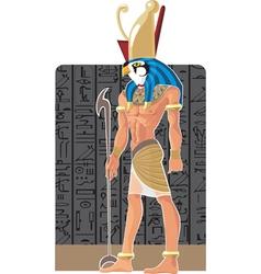 Gor on dark Egypt background vector image
