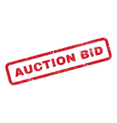 Auction bid text rubber stamp vector