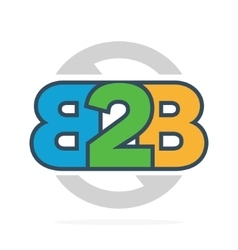 B2b letters logo or icon business to business vector