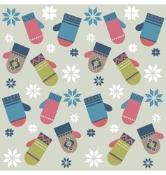 Background with mittens vector image vector image