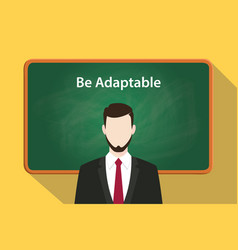 be adaptable white text on green chalkboard vector image vector image