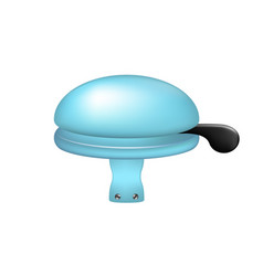 bicycle bell in light blue design vector image vector image
