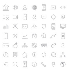 Busines and finance icon set vector