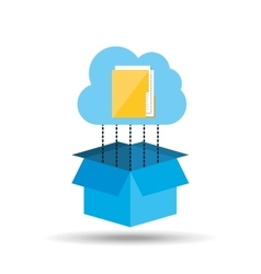 Cloud technology folder file connection design vector