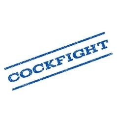 Cockfight watermark stamp vector