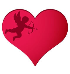 cupidheart8vs vector image vector image