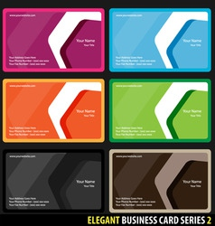 elegant business cards vector image vector image